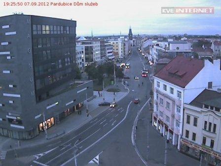 Pardubice Dům služeb webkamera