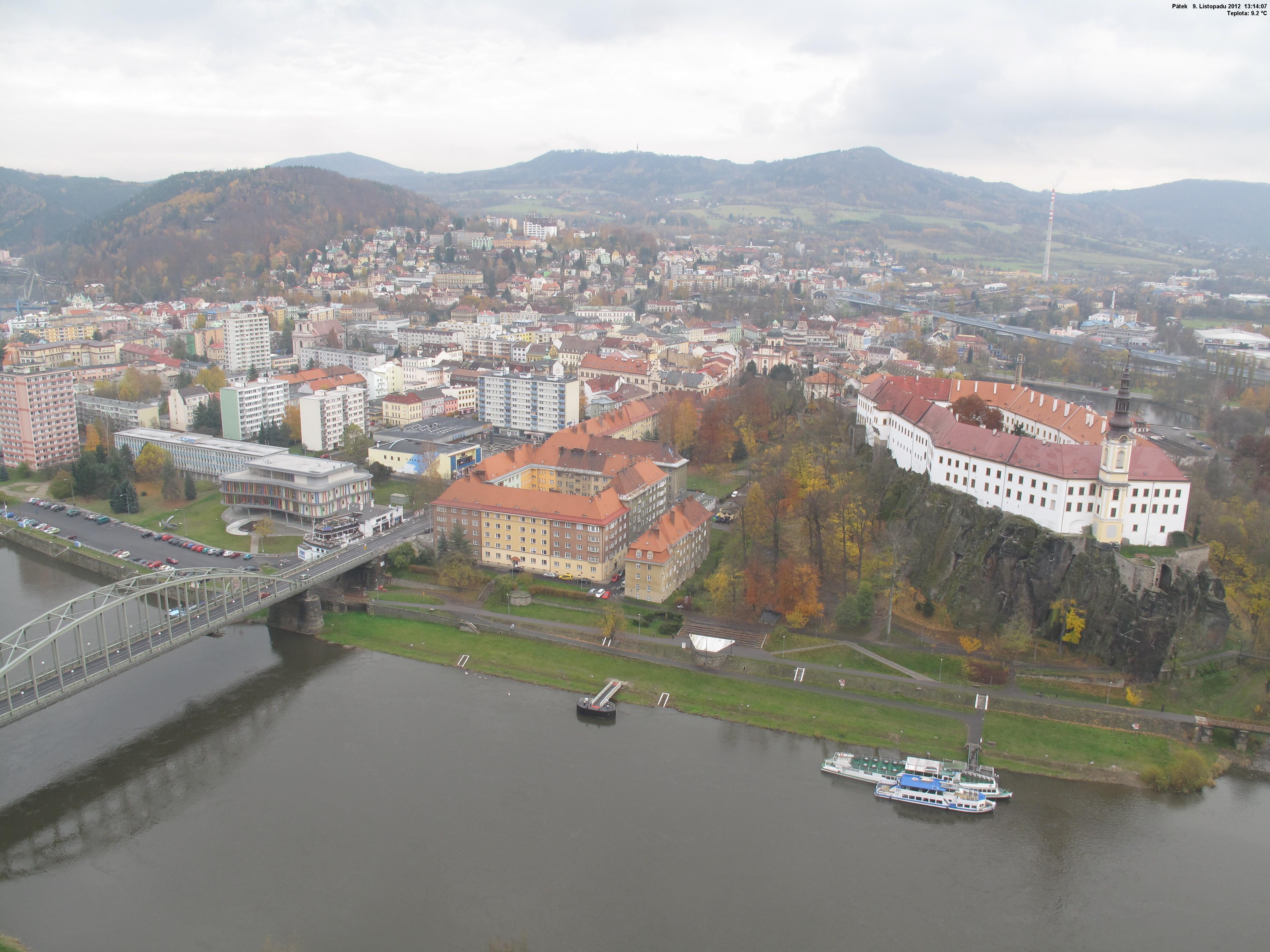 Webkamera Děčín-záběr na zámek